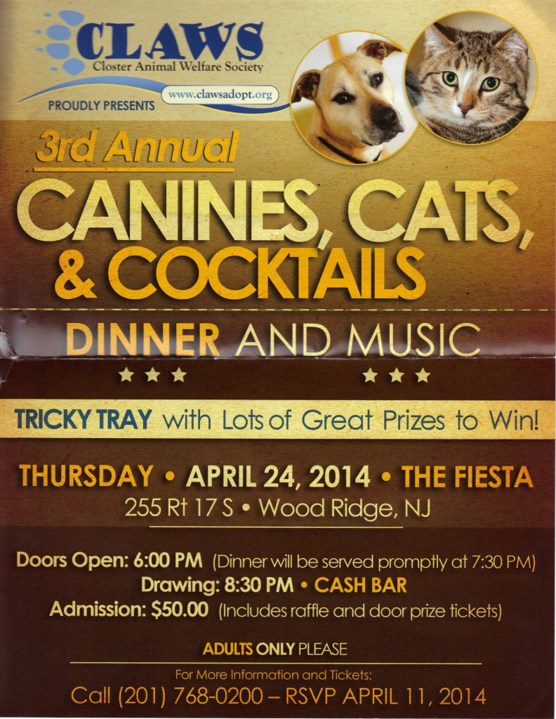 3rd Annual CANINES, CATS, & COCKTAILS